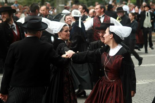 Traditional Breton dancing