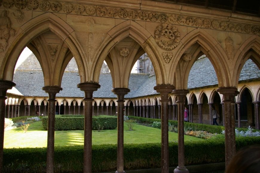 The cloisters in the Abbey at the Mont Saint Michel