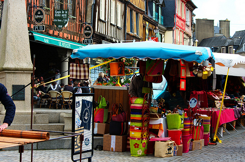 Market day,  Dol de Bretagne