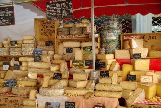 French cheese at market