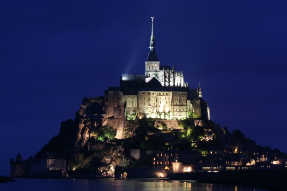 The Mont Saint Michel by night