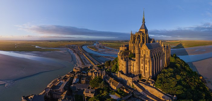 Mont Saint Michel from the air