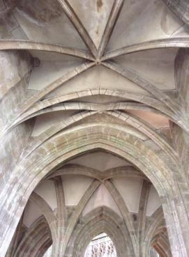 Inside the Abbey of the Mont Saint Michel