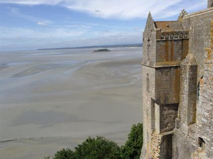 View across the Bay of the Mont Saint Michel