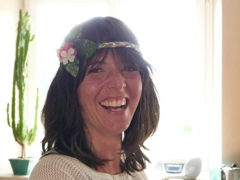Zaida, our lovely yoga teacher, looking radiant